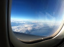 View of plane window